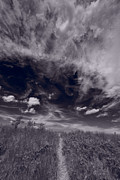 Sky Photos - Lighthouse Beach Dunes BW by Steve Gadomski