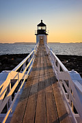 New England Ocean Photo Posters - Lighthouse Boardwalk Poster by Benjamin Williamson