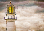 Maine Lighthouse Posters - Lighthouse Cape Elizabeth Maine Poster by Bob Orsillo
