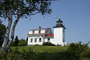Keepers House Photos - Lighthouse Fort Point by Christiane Schulze