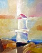 Sweden Mixed Media - Lighthouse Glow by Lutz Baar