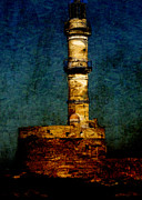 Sarah Vernon Art - Lighthouse in Chania by Sarah Vernon