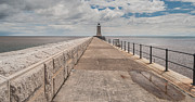 Grey Clouds Photo Originals - Lighthouse in North Shields by Sergey Simanovsky