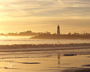 Best Sellers Posters - Lighthouse in Santa Cruz Harbor Poster by Author and Photographer Laura Wrede