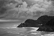 Heceta Posters - Lighthouse in the Storm Poster by Andrew Soundarajan