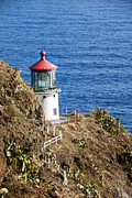 Ocean Photography Metal Prints - Lighthouse Metal Print by Juli Scalzi