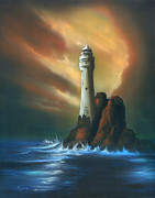 Soothing Paintings - Lighthouse by Luis  Navarro