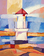 Lighthouse Art Paintings - Lighthouse by Lutz Baar
