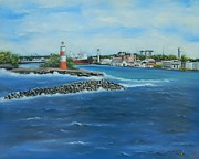 Bahamas Landscape Paintings - Lighthouse Nassau Bahamas by Kenneth Harris