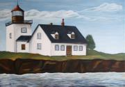 Lighthouse - New England Coast Sold Print by Christiane Schulze