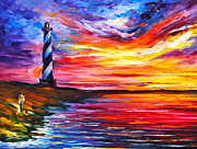 Lighthouse Painting Originals - Lighthouse - New by Leonid Afremov