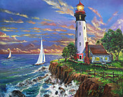 Earl Butch Curtis - Lighthouse On A Cliff