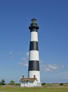 Maritim Painting Prints - lighthouse on Bodie Island near Nags Head Print by M Bleichner