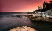 Dusk Metal Prints - Lighthouse Park Metal Print by Alexis Birkill