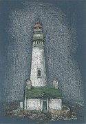 Lighthouse Drawings - Lighthouse by Pris Hardy