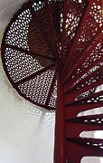Spiral Staircase Prints - Lighthouse Stairwell 5 Print by Mary Bedy