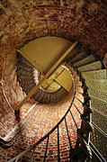 Spiral Staircase Metal Prints - Lighthouse Stairwell Metal Print by Andrew Soundarajan