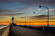 Duluth Art - Lighthouse Sunrise by Mark Goodman