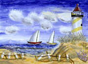Susan Schmitz Metal Prints - Lighthouse Metal Print by Susan Schmitz