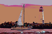 Lighthouse Tour 8940 Print by Tom Kelly