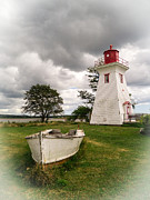 Pei Metal Prints - Lighthouse Victoria by the Sea PEI Metal Print by Edward Fielding