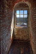 Beach Art Prints - Lighthouse Window Print by Peter Tellone