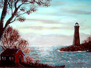 Water Vessels Paintings - Lighthousekeepers Home by Barbara Griffin