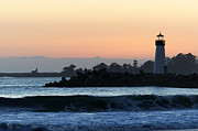 California Seascape Prints - Lighthouses of Santa Cruz Print by Paul Topp