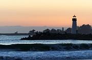 Lighthouses Of Santa Cruz Print by Paul Topp