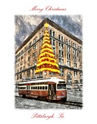 Pittsburgh Digital Art Framed Prints - Lighting of the Hornes Christmas Tree Framed Print by Charles Ott