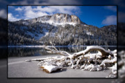 Turquoise Lake Framed Prints - Lightly Powdered 2 Framed Print by Chris Brannen