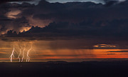 Monsoon Posters - Lightning at Dawn Poster by Laura Zirino