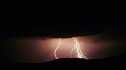 Lightning Storms Photo Prints - Lightning  Print by Jeff  Swan