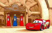 Pixar Digital Art - Lightning McQueen by Kenneth Krolikowski