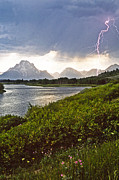 Judi Baker - Lightning Over the Tetons