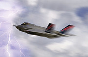 Carrier Digital Art Posters - Lightning Speed Poster by Peter Chilelli