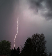 Pacific Northwest Prints - Lightning Strike Over Grants Pass Print by Mick Anderson