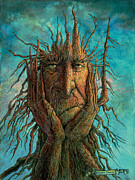 Tree Creature Metal Prints - Lightninghead Metal Print by Frank Robert Dixon