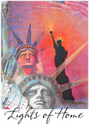 Lady Liberty Mixed Media Prints - Lights of Home 1 Print by Brooks Garten Hauschild