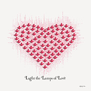 Light Of Heart Framed Prints - Lights of Love Framed Print by Ajay Mane