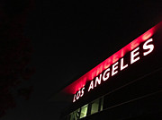 Los Angeles Clippers Prints - Lights on L.A. Print by Mark David Gerson
