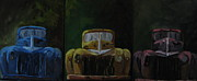 Old Trucks Paintings - Lights Out by Susan Richardson