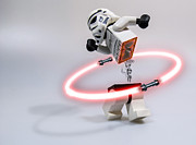 Lego Digital Art - Lightsaber Hula Oops by Randy Turnbow