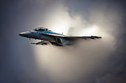 F-18 Digital Art - Lightspeed jump by Andras Brandligt