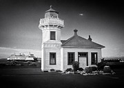 U.s. Coast Guard Prints - Lightstation Mukilteo BW Print by Patrick M Lynch