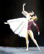 Contemporary Dance Paintings - Ligne by Judy Kay