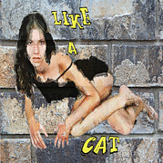 Like A Cat Print by Andrew Govan Dantzler