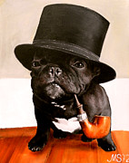Colorful French Bulldog Art Posters - Like a Sir Poster by Marina Joy