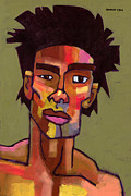 Portrait Paintings - LIkes to Party by Douglas Simonson