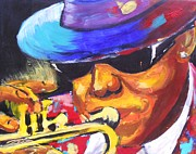 School Bus Print Posters - Lil Bennie on Trumpet Poster by Jonathan Tyson